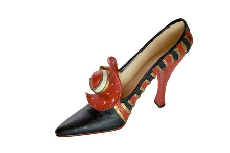 cinderella shoes: red shoes decorated hats with a bow (miniatures) Series