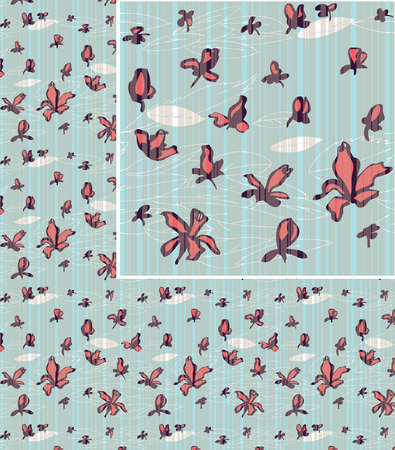 Seamless  floral background pattern Stock Vector - 7699025