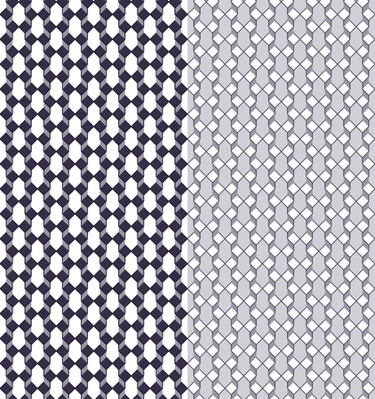 two dimensional shape: Geometric seamless pattern with color variations