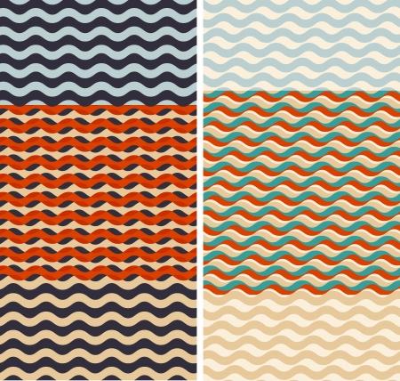 Set of geometric seamless pattern backgrounds