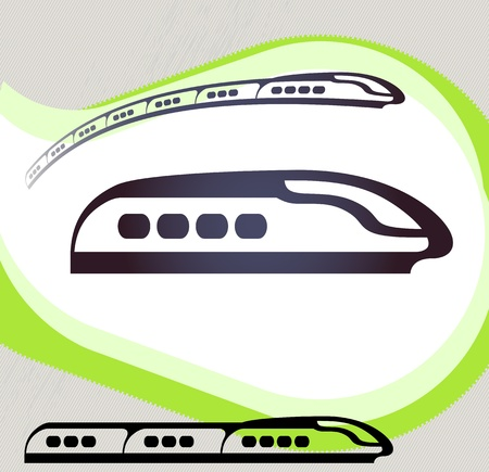 Train  Retro-style emblem, icon, pictogram   Vector