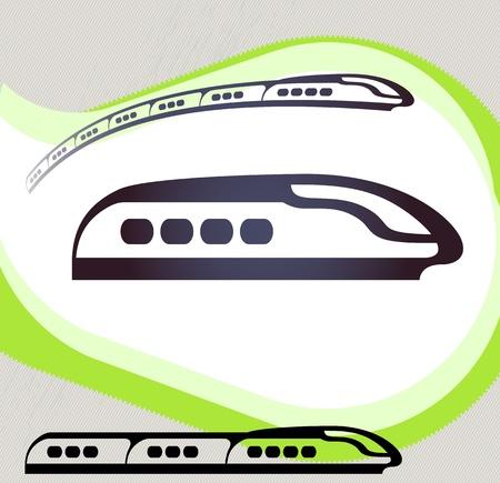 Train  Retro-style emblem, icon, pictogram