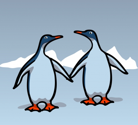 Two penguins. transparencies used