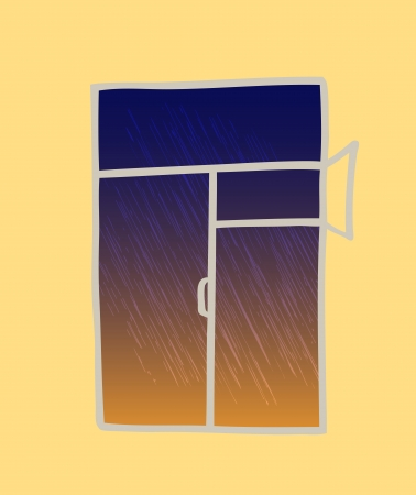 Window illustration, transparencies used Vector