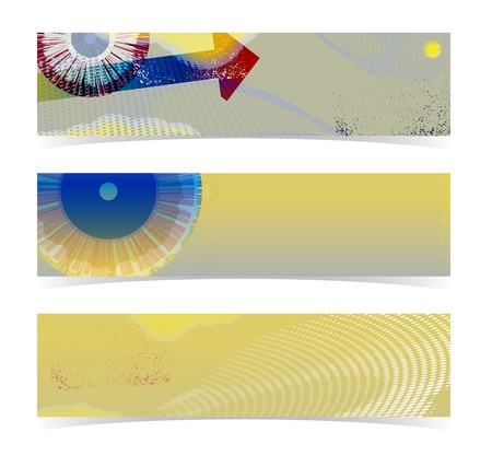 Set of horizontal banners