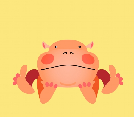 Cute kawaii animalistic cartoon character.