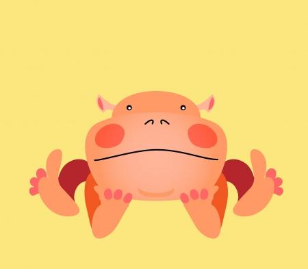 animalistic: Cute kawaii animalistic cartoon character.