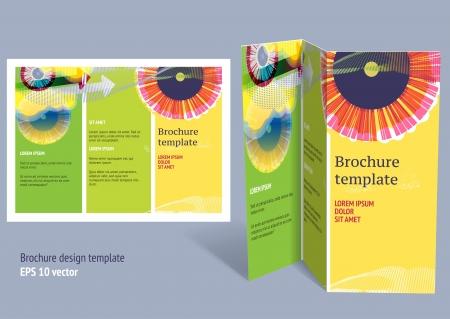 entwurf: Broschüre, Booklet z-fach-Layout. Editierbare Design-Vorlage. EPS10 Vektor, Folien verwendet.