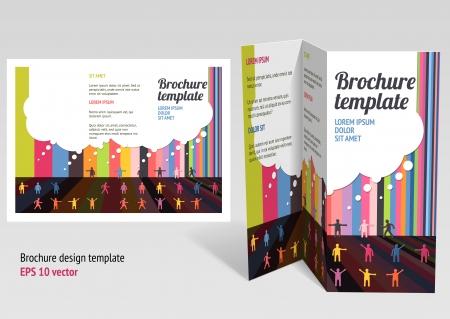 z fold: Brochure, booklet z-fold layout.