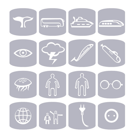 Travelling icons set collection Vector