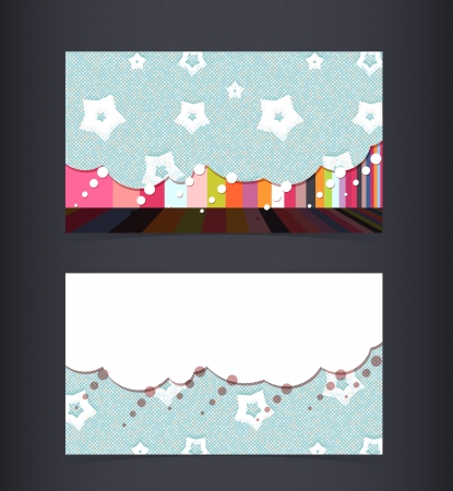 Business card layout.  Illustration