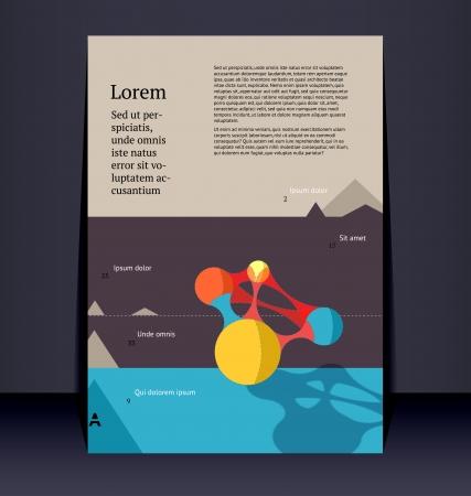 Flyer, leaflet, booklet layout.