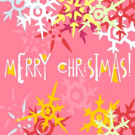 Christmas greeting card postcard editable template. EPS 10 vector Illustration