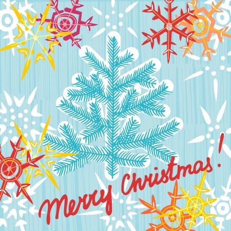 Christmas greeting card postcard