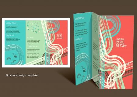 Brochure, booklet z-fold layout.