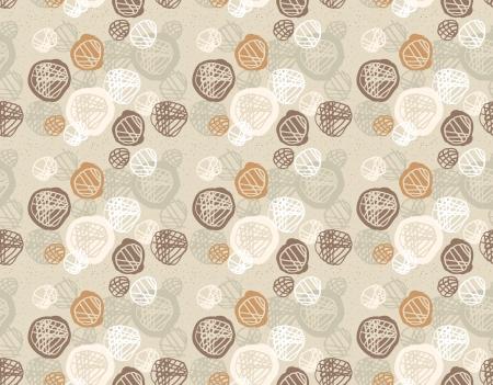 simple geometry: Seamless pattern of simple geometry. Retro-style illustration Illustration