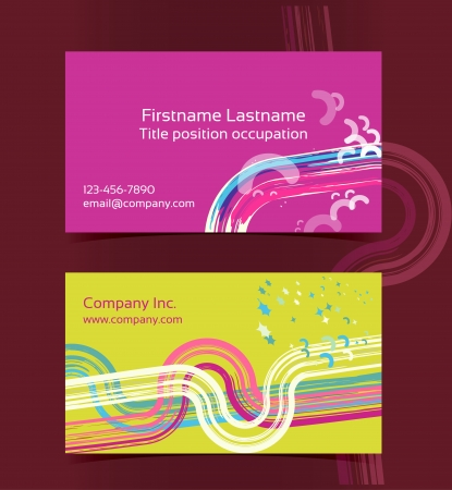 Business card layout. Editable design template.