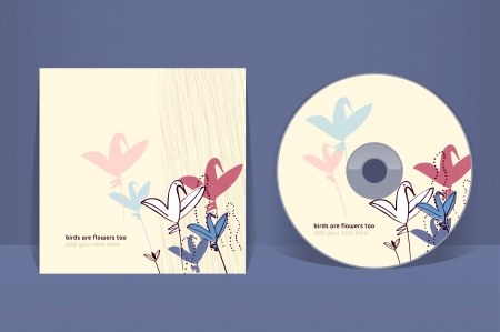 CD cover design template. EPS 10 vector, transparencies used