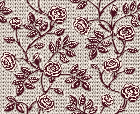 Vintage floral seamless pattern. Classic hand drawn roses