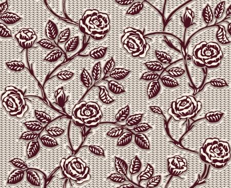 classic: Vintage patr�n floral sin fisuras. Rosas dibujadas a mano cl�sico
