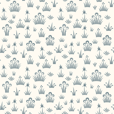 Seamless floral retro pattern of classic style Illustration
