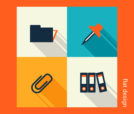Business icon set. Software and web development, marketing, global communications. Flat design