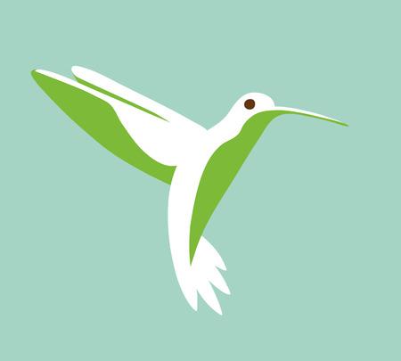 Hummingbird stylized simplistic graphic symbol Vector