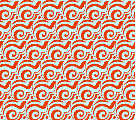 Geometric abstract seamless pattern motif background. Colorful shapes of spirals and circles. Square composition