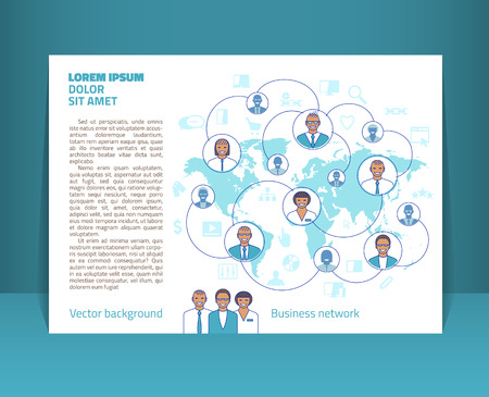 Flyer, leaflet, booklet layout. Editable design template A5.  transparencies used. Illustration