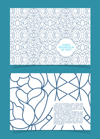 a5: Flyer, leaflet, booklet layout. Editable design template A5 two sides