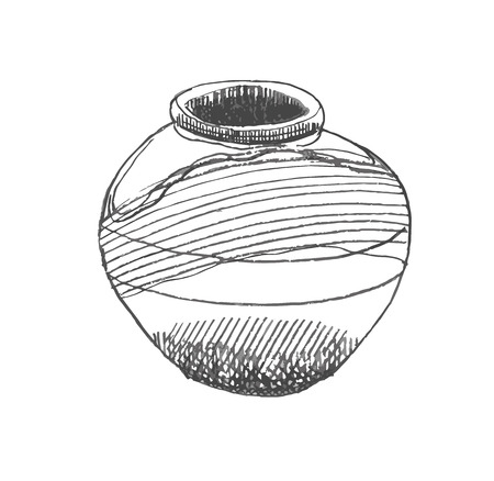 jug: Jug hand-drawn style grunge illustration Illustration