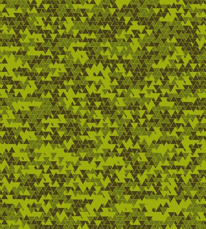 seventies: Geometric abstract seamless pattern motif background. Triangles and hexagons randomly colored
