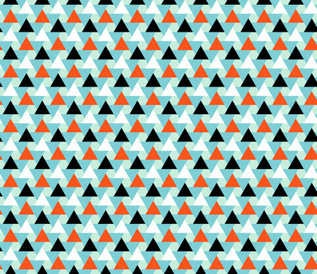 Geometric abstract seamless pattern motif background. Triangles and hexagons. Colorful shapes composition