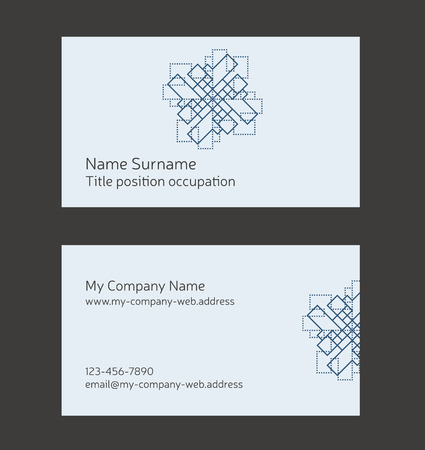 Business card layout. Linear geometric logo and pattern.