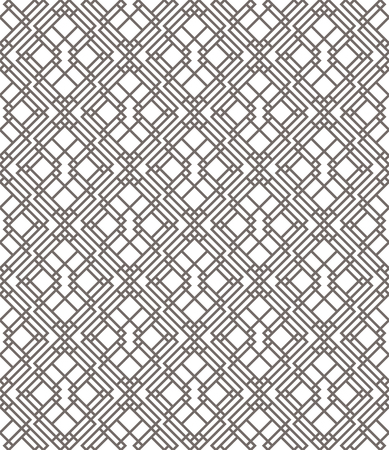 decoration design: Geometric abstract seamless pattern. Linear motif background. Monochrome decoration design