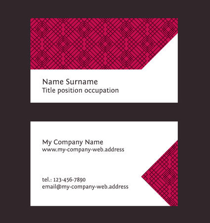 media logo: Business card layout. Linear geometric pattern. Editable design template