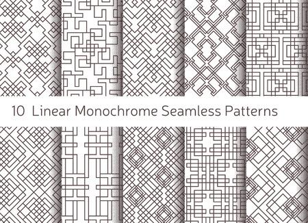 lineal: Modelo inconsútil abstracto geométrico. Fondo con motivos lineales. Decoración monocromática diseño