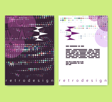 Leaflet, booklet layout. Editable design template. A4 brochure with abstract elements and patterns