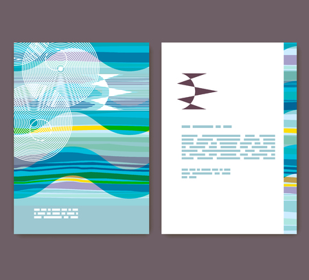 Flyer, leaflet, booklet layout. Editable design template. A4 brochure with abstract elements and patterns
