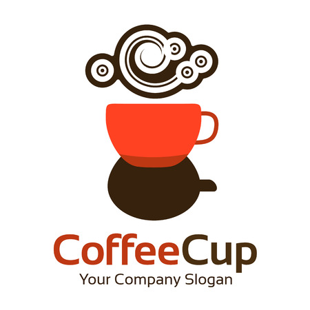 Abstract coffee business corporate identity symbol. Company graphic concept
