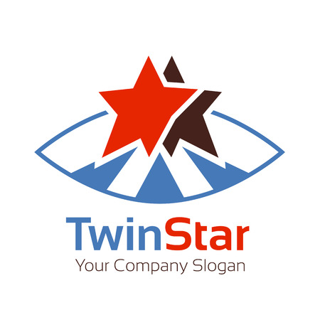 Abstract business corporate identity symbol. Company graphic concept Illustration