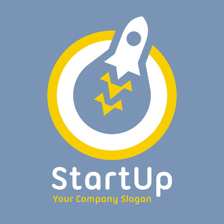 Abstract business corporate identity symbol. Startup graphic concept