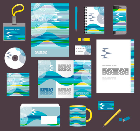 Corporate style business templates. Set of modern abstract graphic design