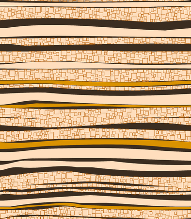 Seamless pattern background, noise texture. Square shapes over random stripes