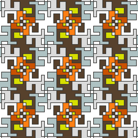 Geometric abstract seamless pattern. Linear motif background decoration design Illustration