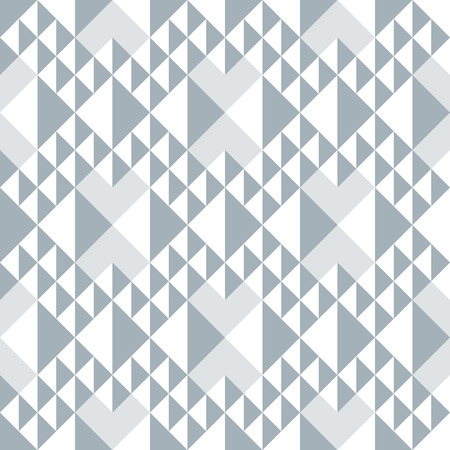 Geometric abstract seamless pattern. Triangle motif background. Monochrome decoration design