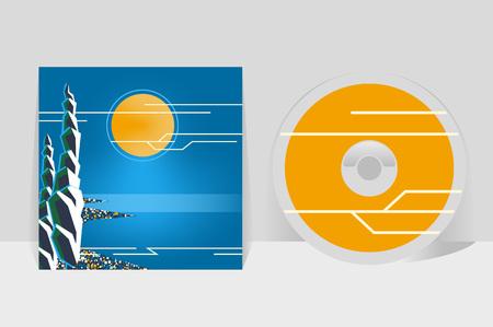 coastal: CD cover design template.