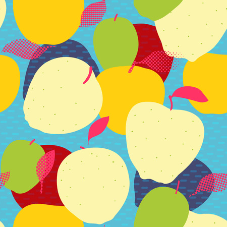 Apple fruits seamless pattern.