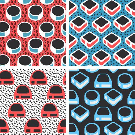 tile pattern: Geometric abstract seamless pattern set