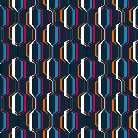 Abstract geometric seamless pattern. Simple wavy zigzag stripes background. Colorful modern decoration design